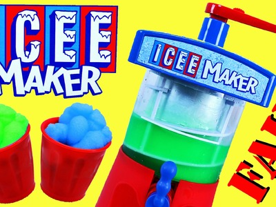 Icee Maker FAIL & Sweet Treats Desserts! DIY Shaved Ice Slushy Toy Ice Cream DisneyCarToys