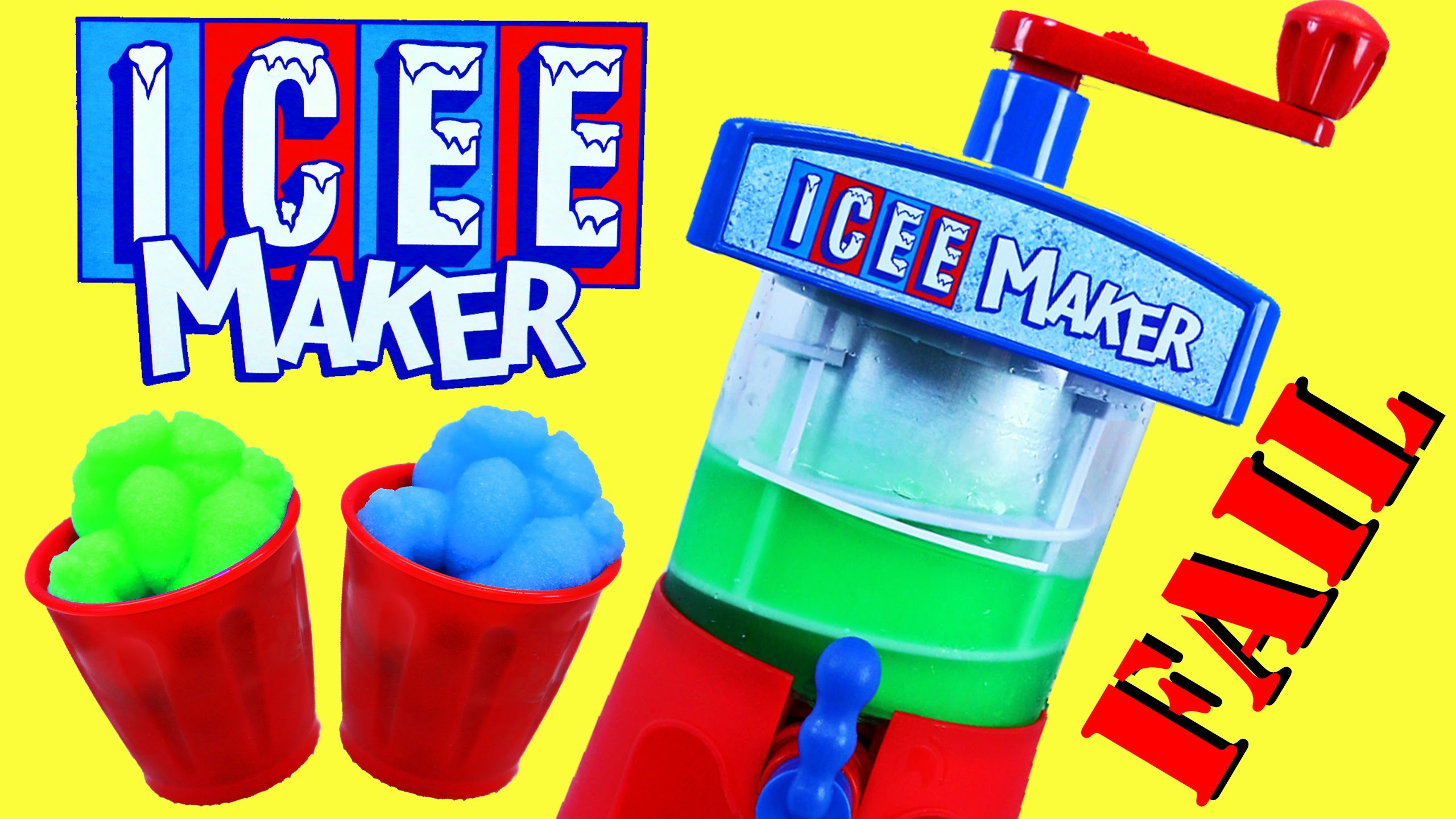 Icee Maker FAIL & Sweet Treats Desserts! DIY Shaved Ice Slushy Toy Ice Cream DisneyCarToys