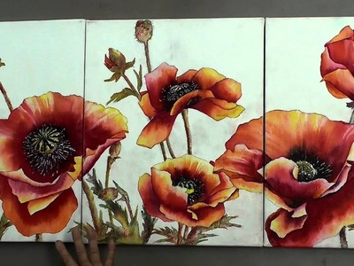 Karlyn Holman presents How to Prepare your Canvass for Watercolor
