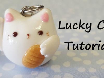 Kawaii Lucky Cat Charm | Polymer Clay Tutorial