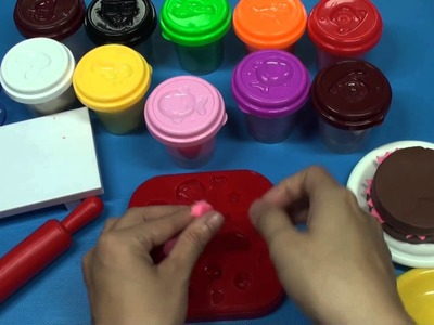 Kid's games - How to Make Birthday Cakes By Clay - Toy kids Full HD