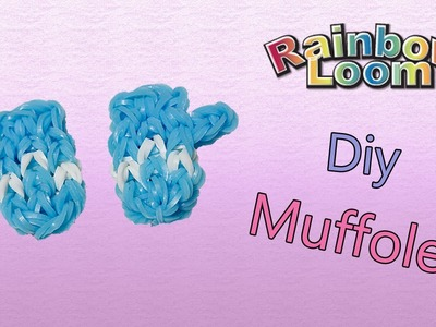 Muffole.Guanti con Elastici Rainbow Loom ~ Gloves Tutorial !