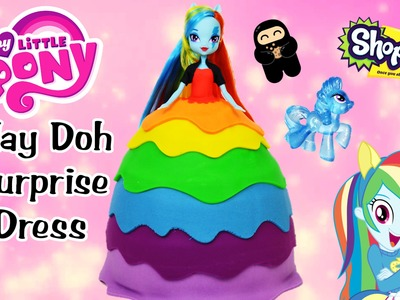 My Little Pony Giant Play Doh Surprise Dress Rainbow Dash MLP Surprise Egg and Toy Collector SETC