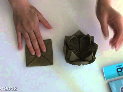 Origami Lotus Flower Paper Napkin fast and easy