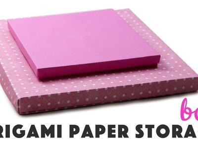 Origami Paper Storage Box Instructions