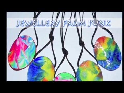 Paper Jewellery - Art Pendant From Junk