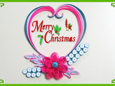 Paper Quilling: How to make Beautiful Quilling greeting card for Cristmus