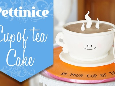 Pettinice:  Step-by-step. How to make a 3D tea cup cake