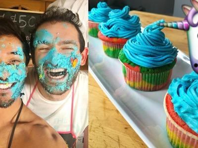 Rainbow Cupcakes recipe - SEXY FUNNY KITCHEN ep32