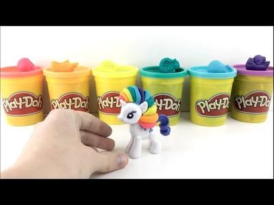Rainbow Play Doh Mohawk My Little Pony - Rarity gets a makeover!