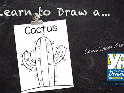 Teaching Kids How to Draw: How to Draw a Cactus