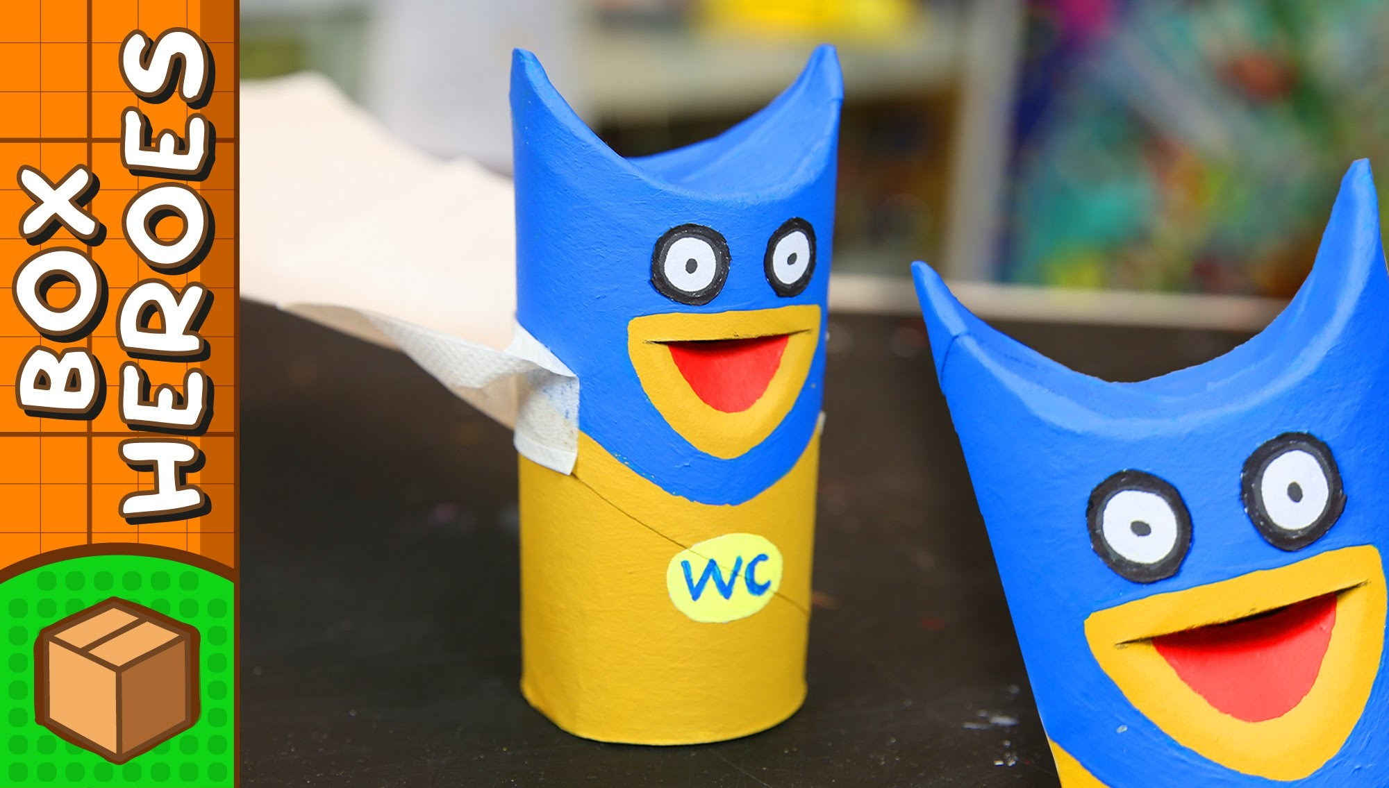Toilet Man - DIY Paper Roll Crafts | Box Heroes on Box Yourself