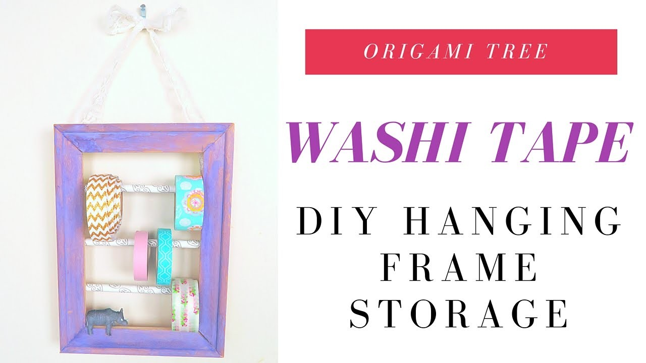 Washi Tape DIY - How to Make Washi Tape Hanging Storage Room Decor Idea - MBM Craft Challenge