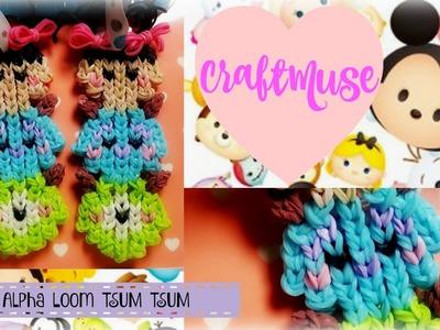 Alpha Loom.Rainbow Loom Monster's Inc Bag Tag.Keychain.Figure (Inspired by TSUM TSUM)
