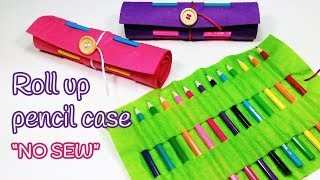DIY crafts: Roll up PENCIL CASE (Back to school) Innova Crafts