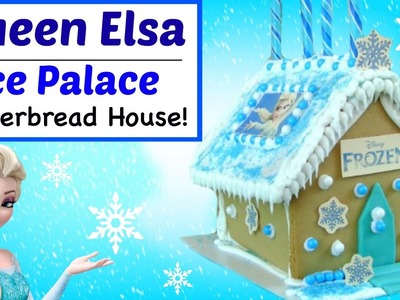 FROZEN GINGERBREAD HOUSE! ELSA ICE PALACE - How To Make Disney Frozen Gingerbread House