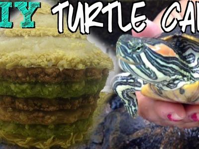 How i made my turtle's birthday cake! diy