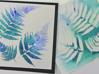 "How-to create ""Blue Fern"" watercolor effects by Leslie ""O"" ColourArte"