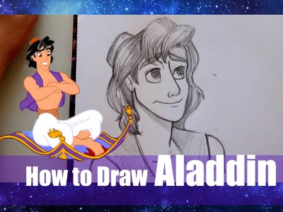 How to Draw ALADDIN (from Disney's Aladdin) - @dramaticparrot