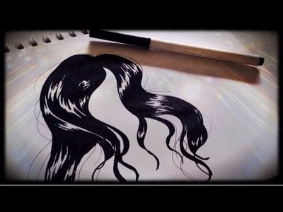 How To Draw Basic Hair With JUST A BLACK MARKER
