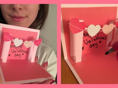 How to Make a Cute Homemade Pop Up Valentine's Card - VERY EASY