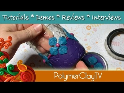 How to make a decorated mason jar for gift giving with polymer clay