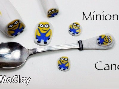 How to make a Minions millefiori cane -   PVClay- Polymer clay tutorial
