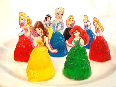 How to make Frozen Elsa Disney princess Jello figures----great party treats
