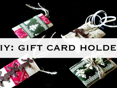 How to make gift card holders: Trash to Treasure