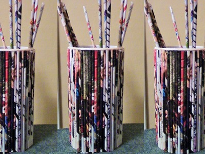 How to Make Paper Tubes from Grocery Flyers or Newspapers