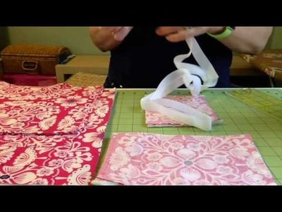 How to Sew a Travel Desktop Organizer to hold an iPad, notepad, pen and business cards.