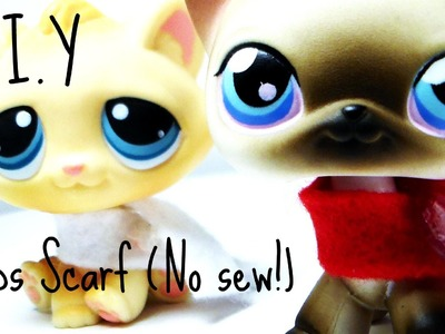 Lps: D.I.Y scarf (No sew! quick and easy)