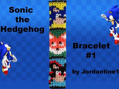 New Sonic the Hedgehog Bracelet - Alpha. Rainbow Loom - Tails Fox, Shadow - Grid Pattern