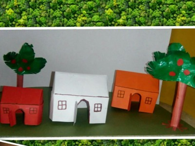 Origami house . how to make paper home