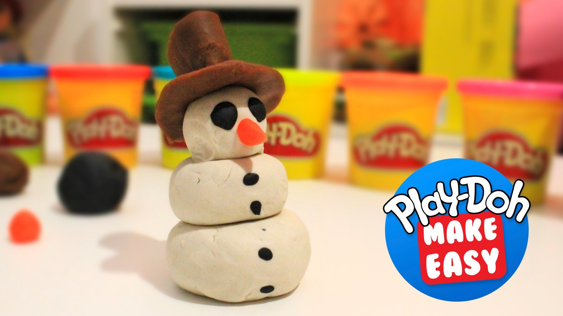 Play Doh How to Make Easy Christmas snowman | Children's Toys