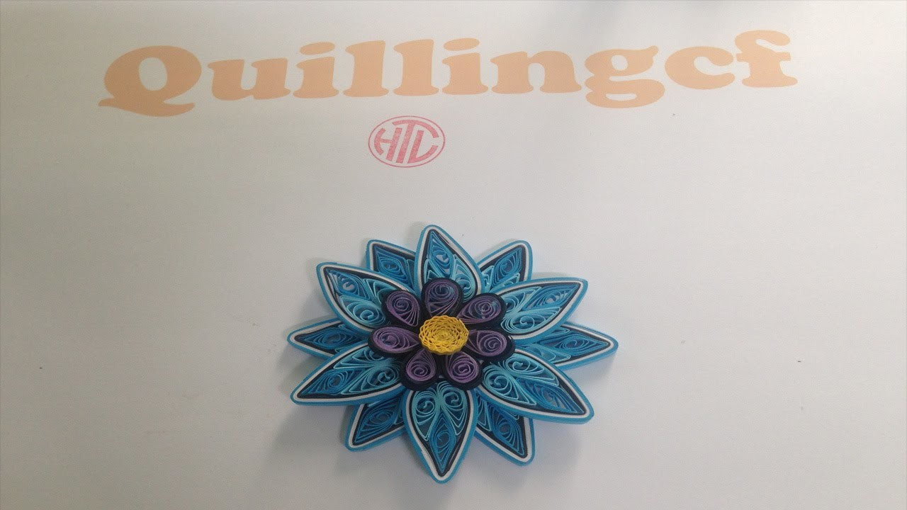 Quilling Tutorial Flower 02 - How to make a flower