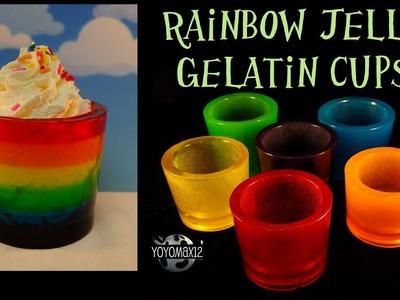 """Rainbow Gummy """"Jell-O"""" Gelatine Cups -with yoyomax12"""