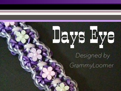 Rainbow Loom Band Days Eye Bracelet Tutorial.How To