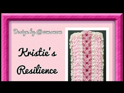 Rainbow Loom Band Kristie's Resilience Bracelet Tutorial.How To