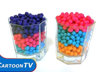 Surprise Rainbow Play-Doh Dippin Dots Fun - Minions & Kung Fu Panda Toys