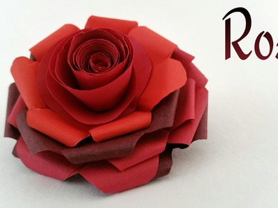 "Tutorial on how to make a beautiful paper ""Rose"