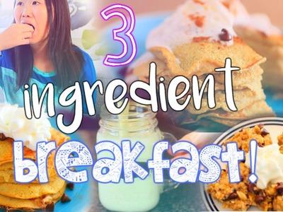 3 Ingredient Breakfast Ideas! DIY Pancakes, Smoothie+ Cookies!
