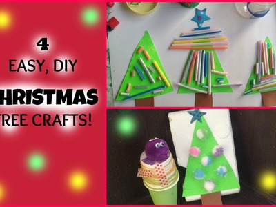 4 Fun & Easy Christmas Tree crafts for children!