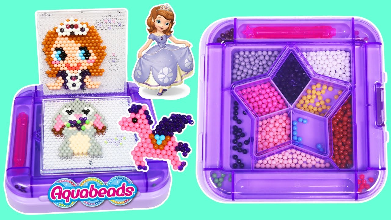 AquaBeads Sofia the First Playset DIY Magical Beads in Disney Jr Princess Sofia & Friends Shape!