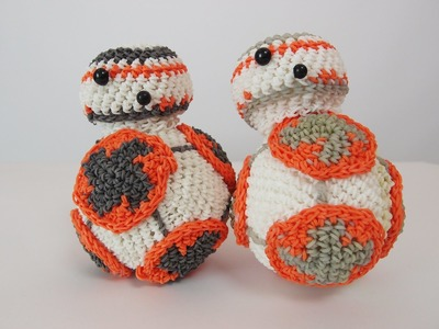 BB-8 Droid from Star Wars Rainbow Loom Bands Amigurumi Loomigurumi Hook Only Tutorial