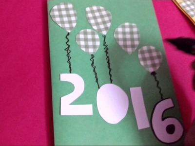 Christmas And New Year Popup Greeting CardMaking