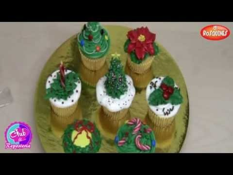 Christmas Cupcakes with Buttercream