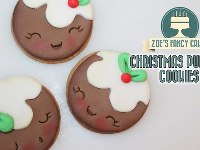 Christmas pudding cookies shopkins inspired