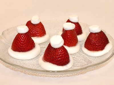 Easy Strawberry Santa Hats (Christmas dessert)