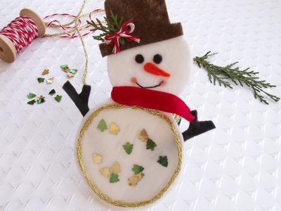 Felt Christmas Gift - Snowman Coaster Tutorial. Keçe Kardan Adam Bardak Altlığı Yapılışı